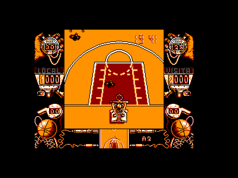 screenshot of the Amstrad CPC game Drazen petrovic basket by GameBase CPC