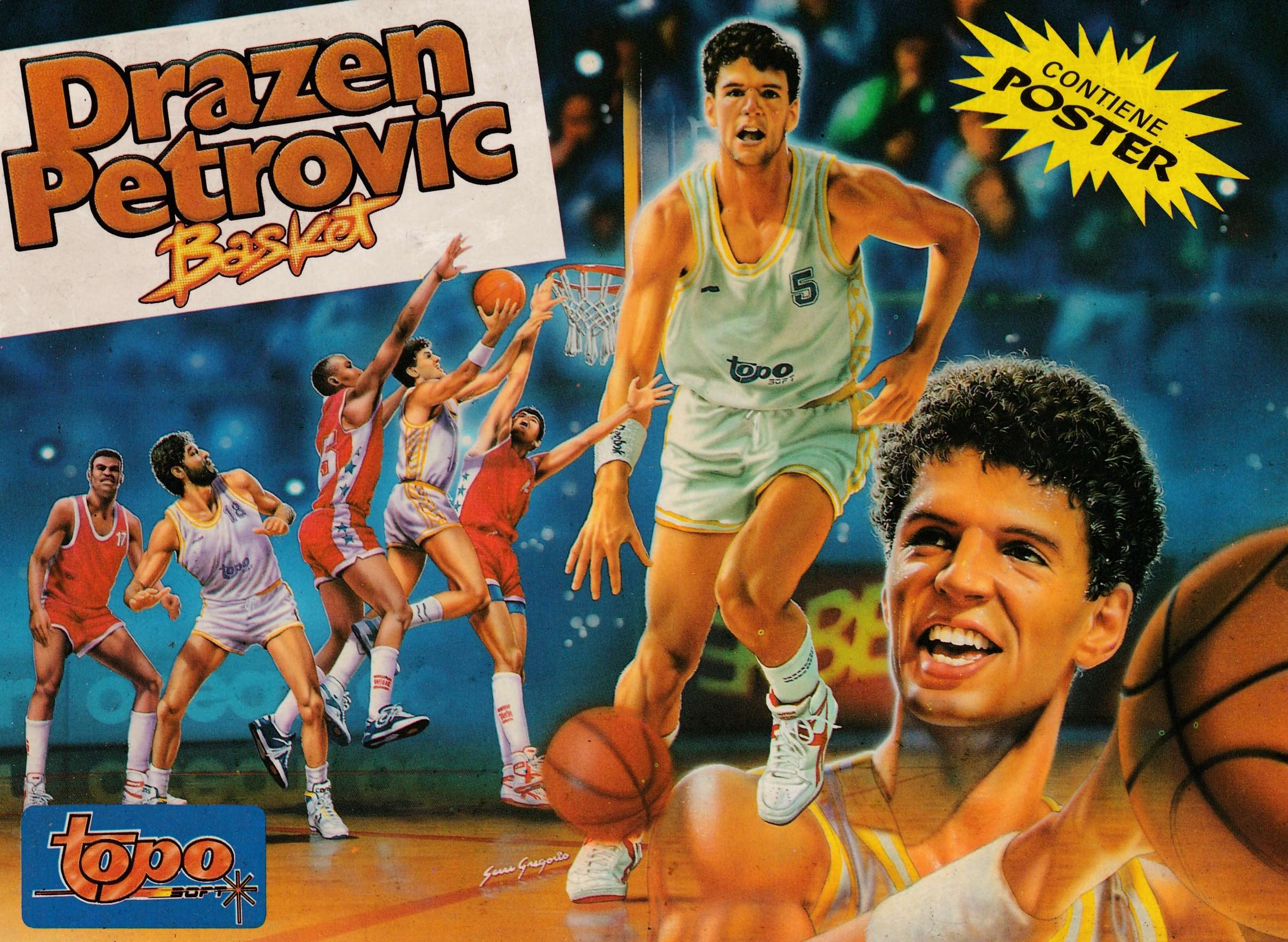 cover of the Amstrad CPC game Drazen Petrovic Basket  by GameBase CPC