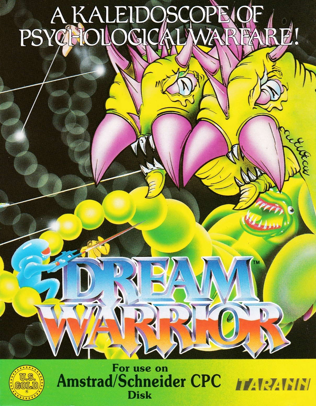 screenshot of the Amstrad CPC game Dream warrior by GameBase CPC