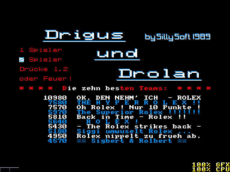 screenshot of the Amstrad CPC game Drigus und Drolan by GameBase CPC