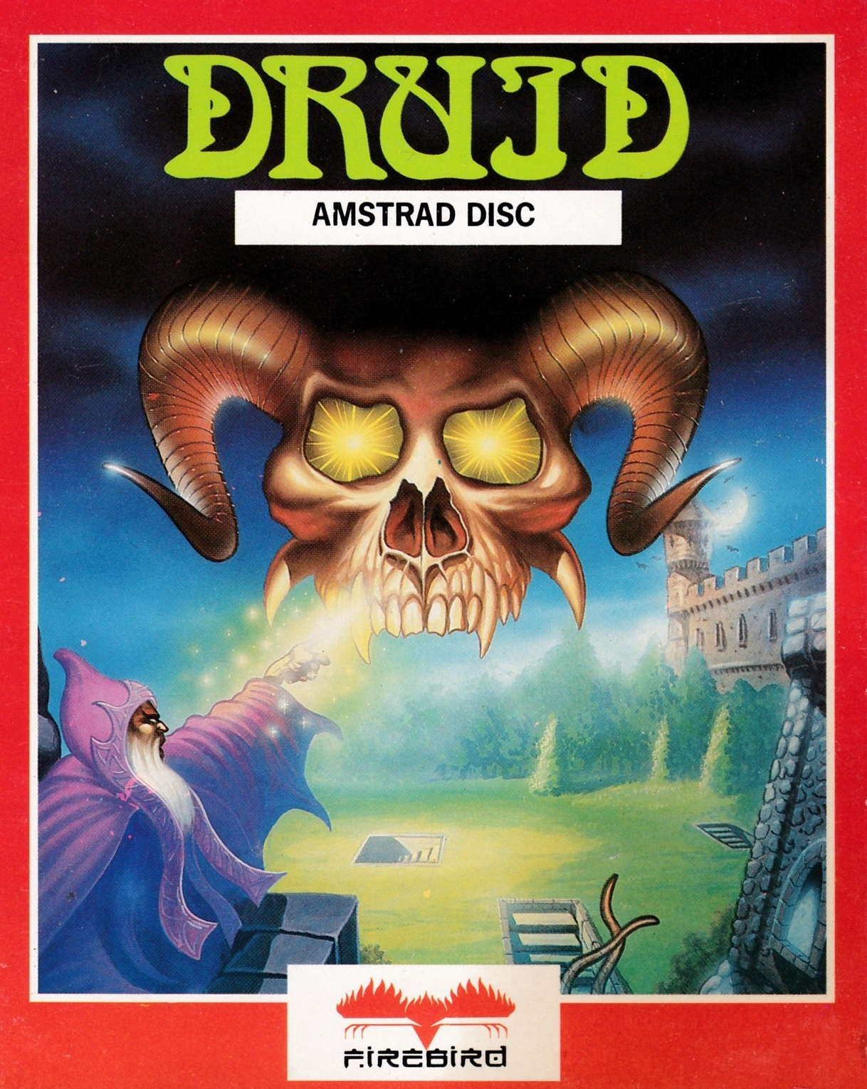 screenshot of the Amstrad CPC game Druid by GameBase CPC