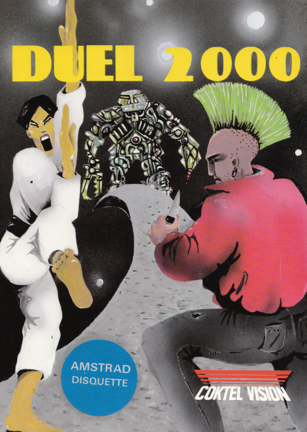screenshot of the Amstrad CPC game Duel 2000 by GameBase CPC