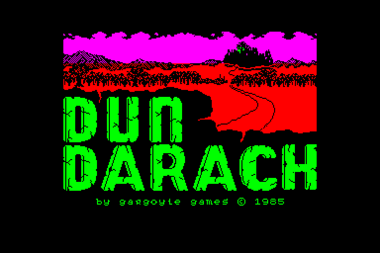 screenshot of the Amstrad CPC game Dun darach by GameBase CPC