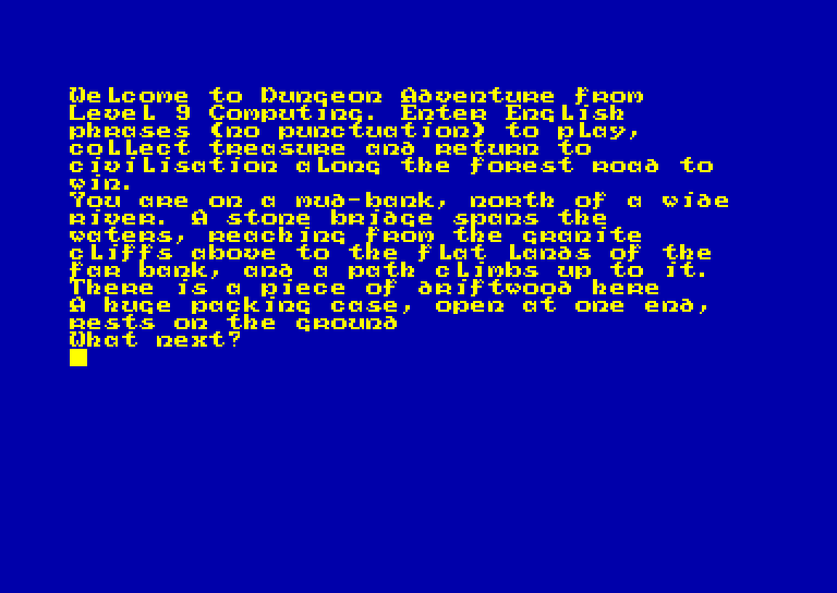 screenshot of the Amstrad CPC game Dungeon adventure by GameBase CPC