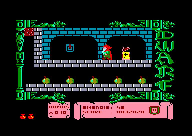 screenshot of the Amstrad CPC game Dwarf by GameBase CPC