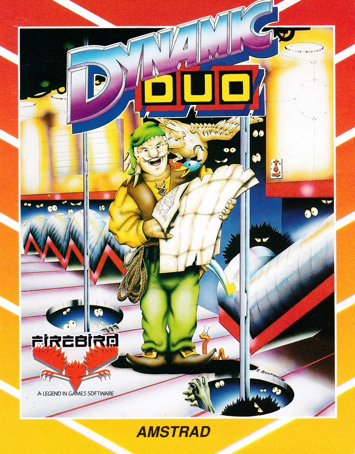 cover of the Amstrad CPC game Dynamic Duo  by GameBase CPC