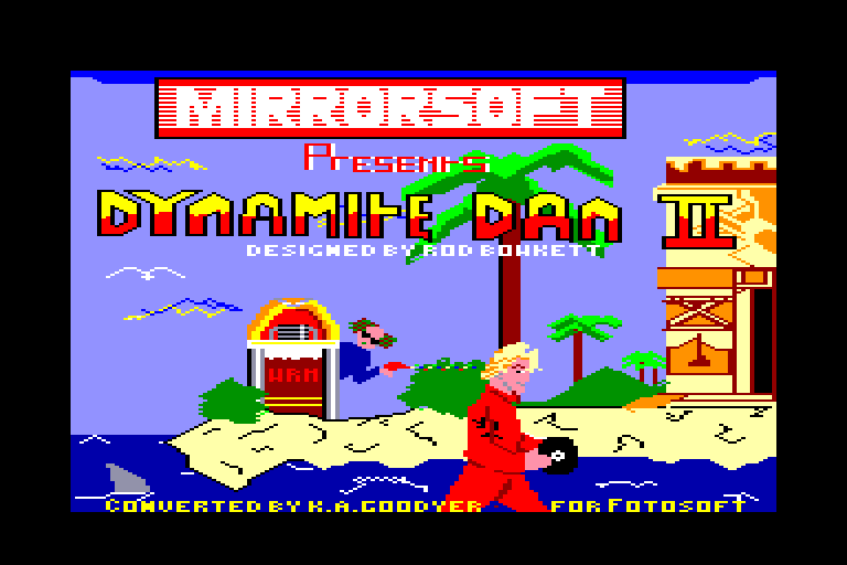 screenshot of the Amstrad CPC game Dynamite Dan II by GameBase CPC