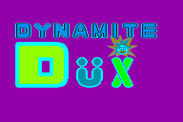 screenshot of the Amstrad CPC game Dynamite Dux by GameBase CPC