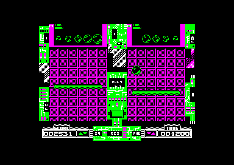screenshot of the Amstrad CPC game Dynamix by GameBase CPC
