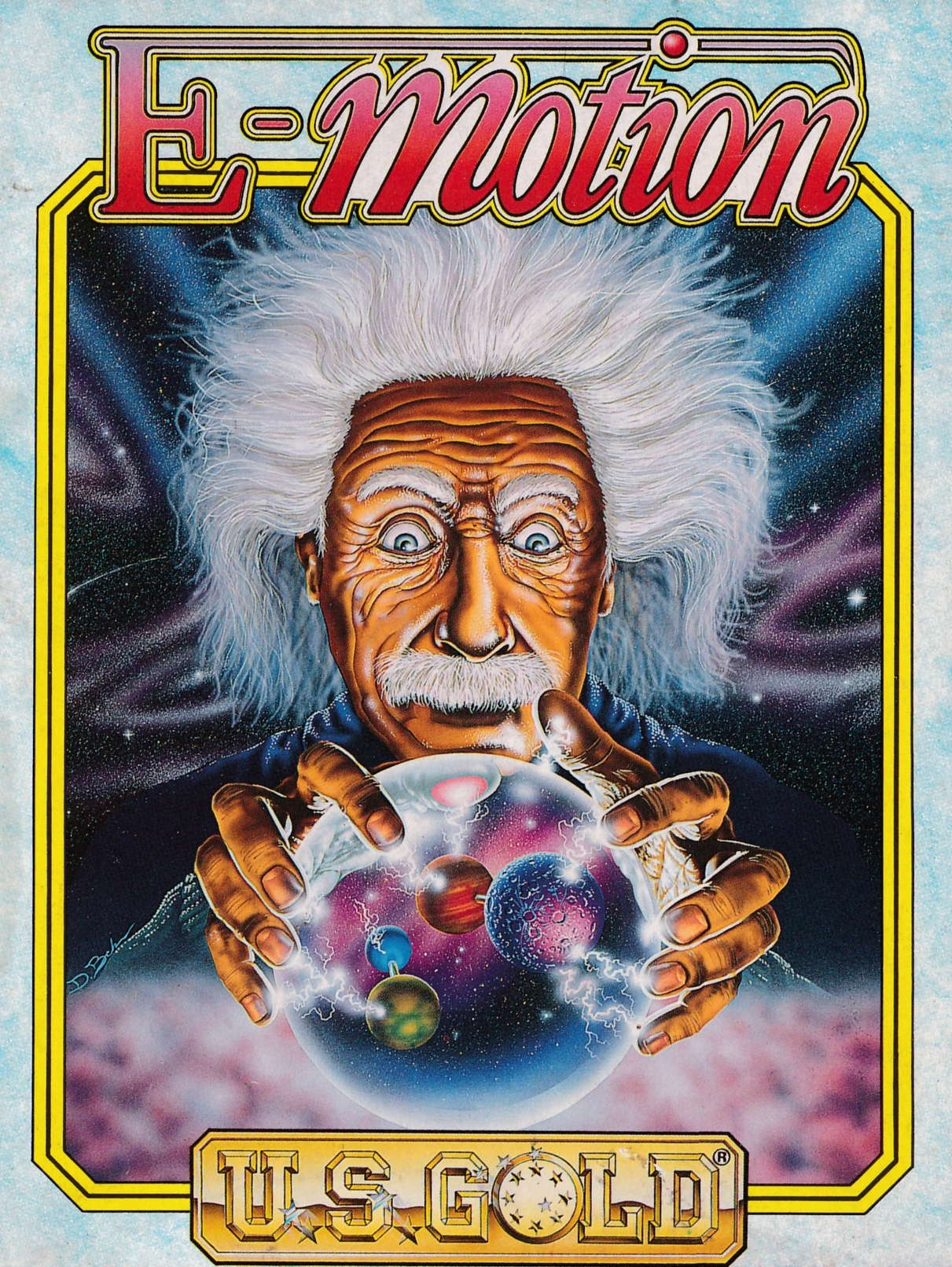 screenshot of the Amstrad CPC game E-Motion by GameBase CPC