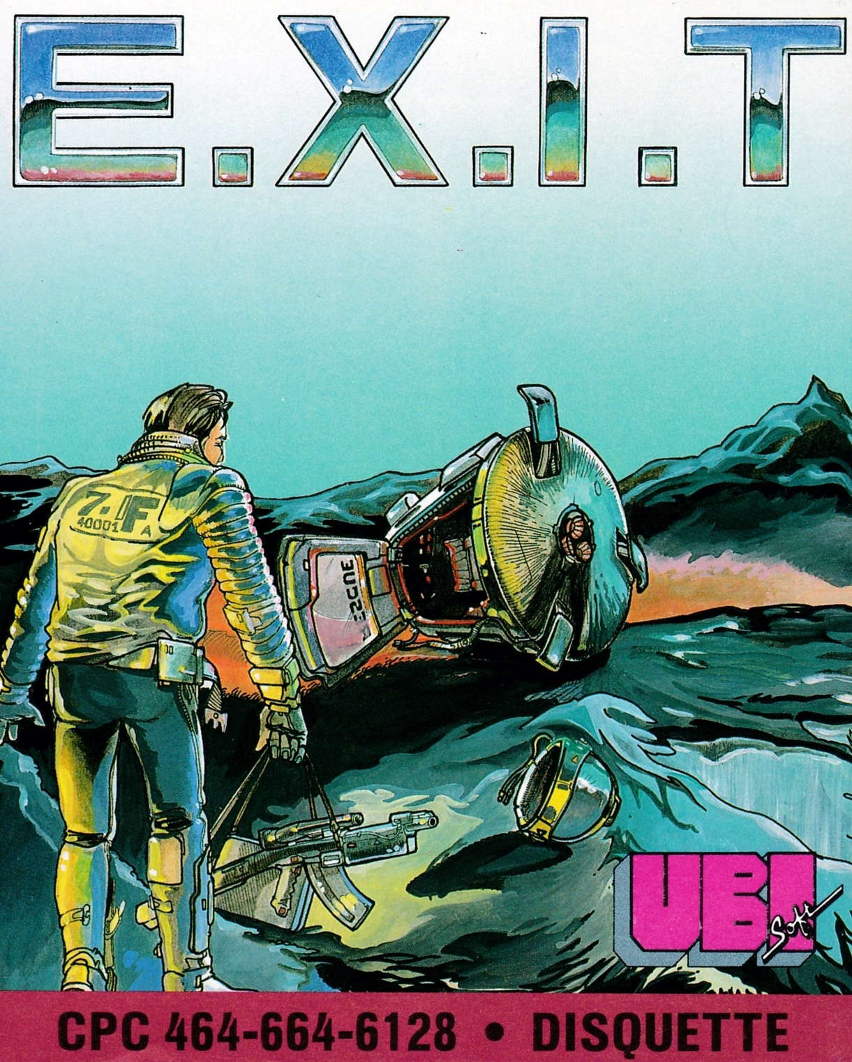screenshot of the Amstrad CPC game E.X.I.T. by GameBase CPC