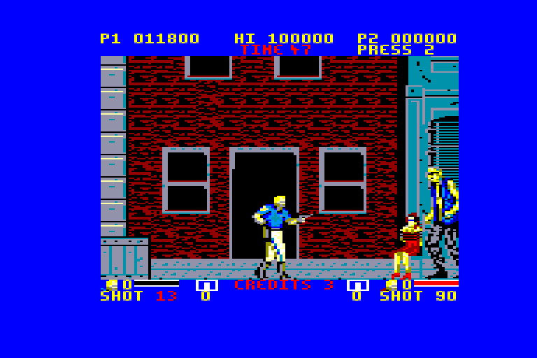 screenshot of the Amstrad CPC game ESWAT by GameBase CPC