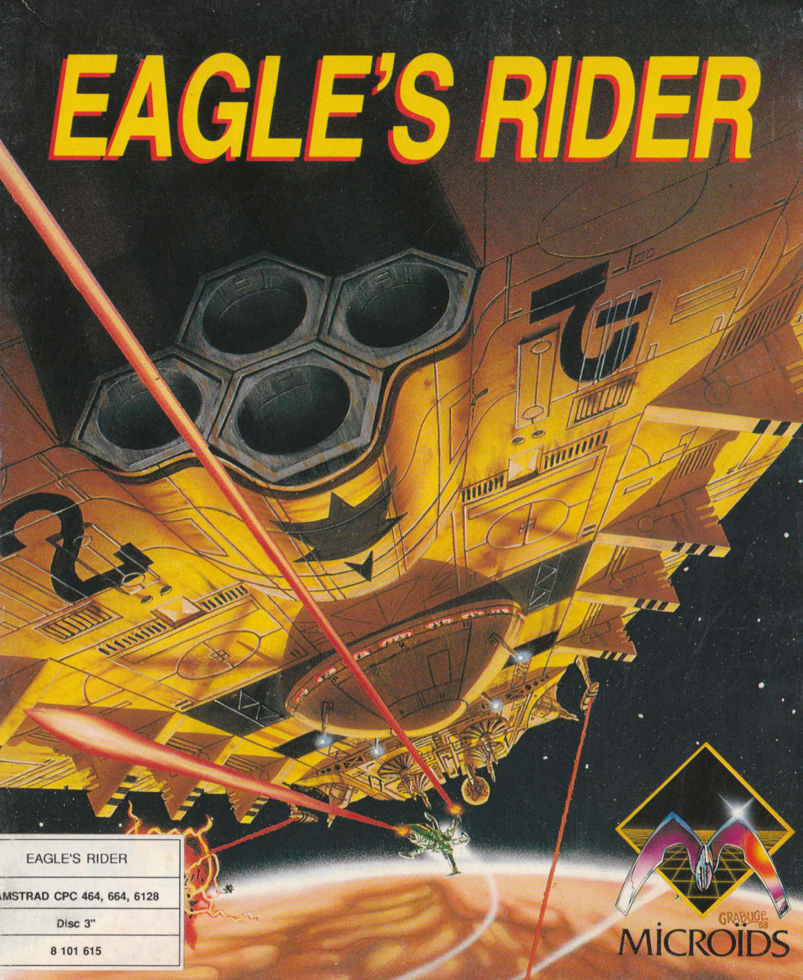 screenshot of the Amstrad CPC game Eagle's rider by GameBase CPC