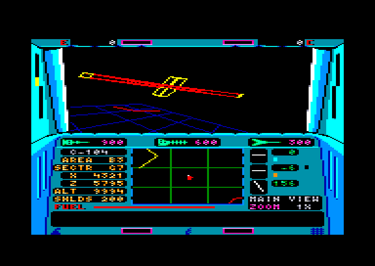 screenshot of the Amstrad CPC game Echelon by GameBase CPC