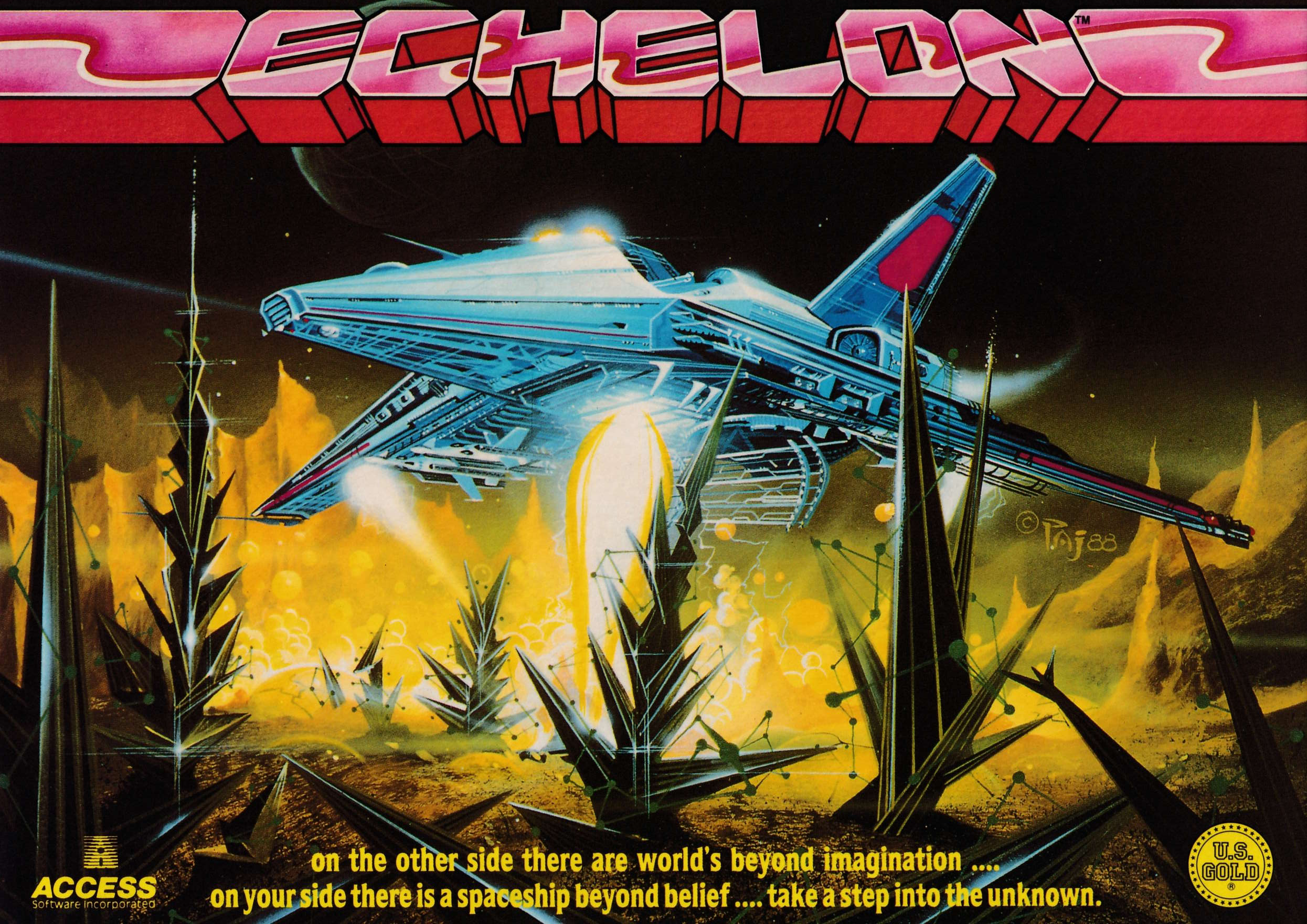 cover of the Amstrad CPC game Echelon  by GameBase CPC