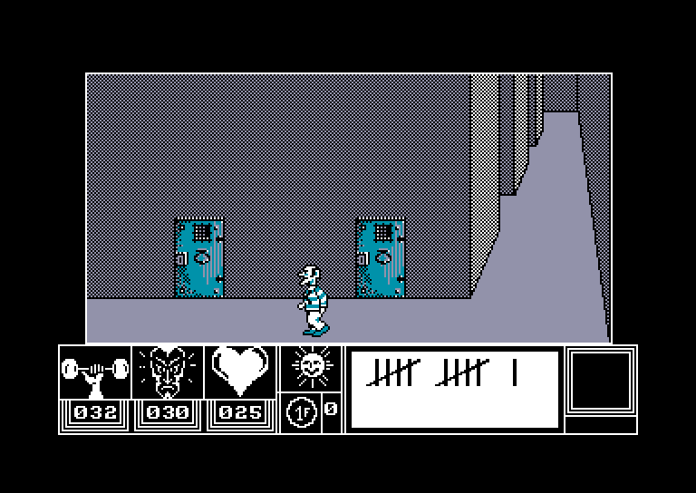 screenshot of the Amstrad CPC game Doomsday Blues by GameBase CPC