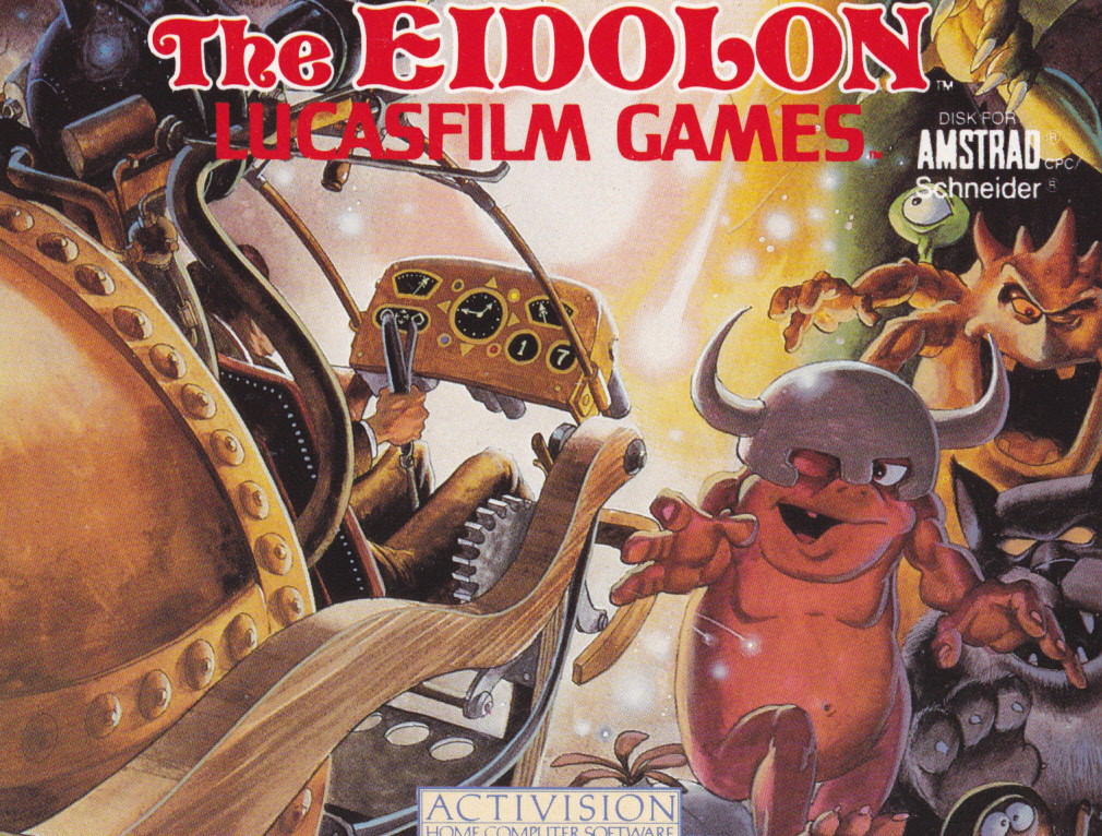 screenshot of the Amstrad CPC game Eidolon (the) by GameBase CPC