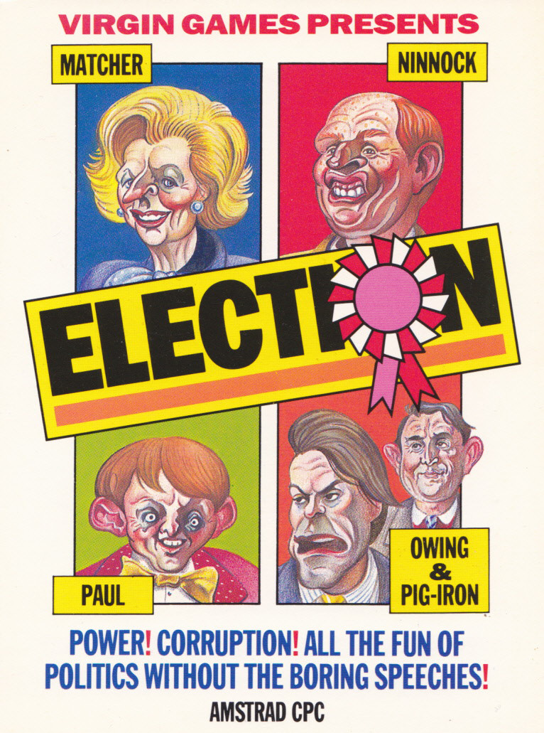 screenshot of the Amstrad CPC game Election by GameBase CPC