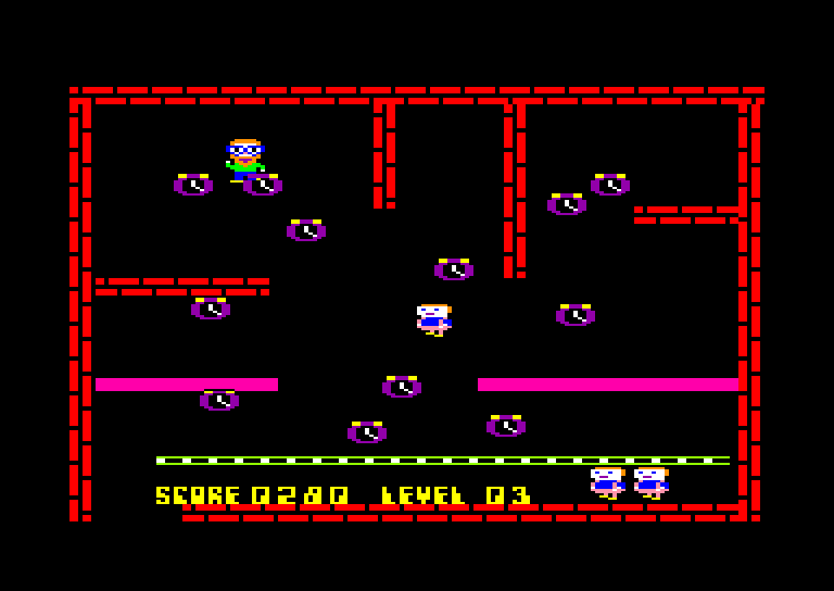 screenshot of the Amstrad CPC game Electro freddy by GameBase CPC