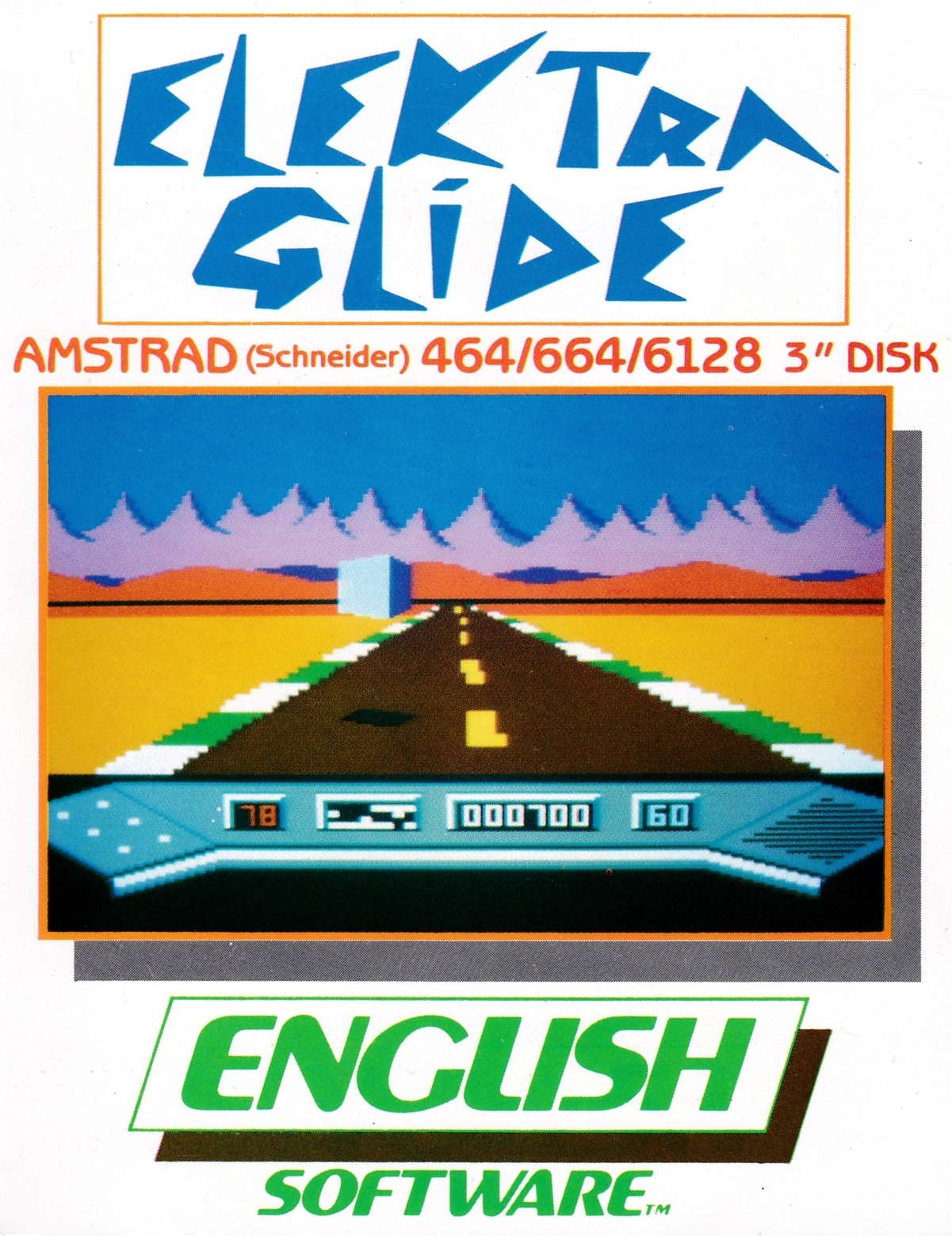 screenshot of the Amstrad CPC game Elektra glide by GameBase CPC