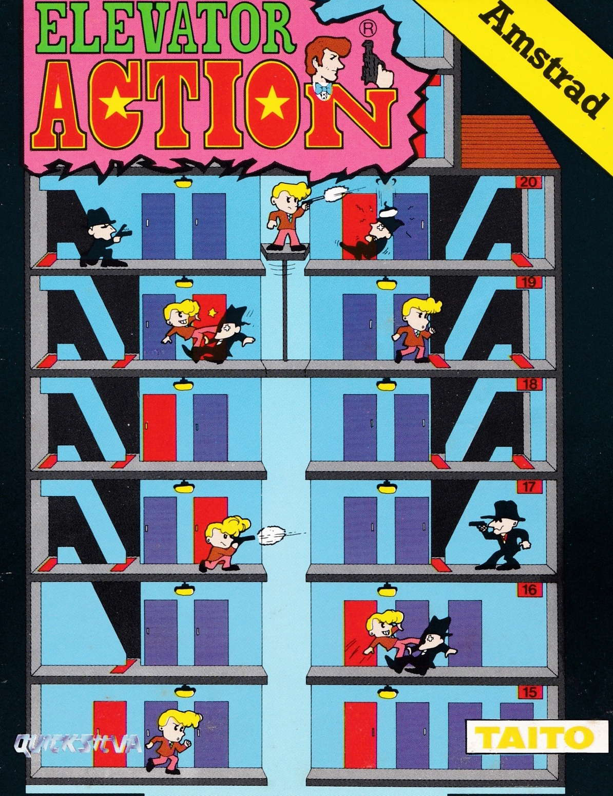 cover of the Amstrad CPC game Elevator Action  by GameBase CPC