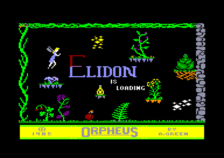 screenshot of the Amstrad CPC game Elidon by GameBase CPC