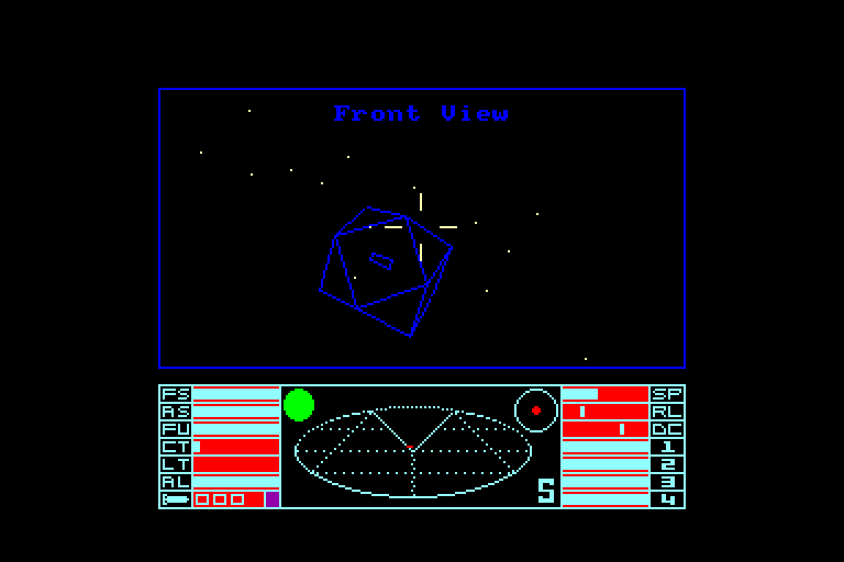 screenshot of the Amstrad CPC game Elite by GameBase CPC