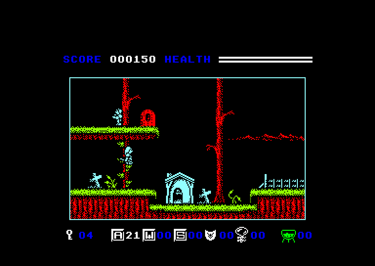screenshot of the Amstrad CPC game Elven warrior by GameBase CPC