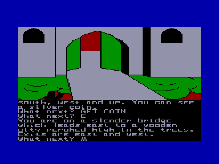 screenshot of the Amstrad CPC game Emerald isle by GameBase CPC