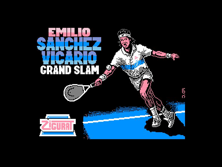 screenshot of the Amstrad CPC game Emilio sanchez vicario grand slam by GameBase CPC