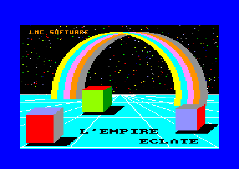 screenshot of the Amstrad CPC game Empire eclate (l') by GameBase CPC