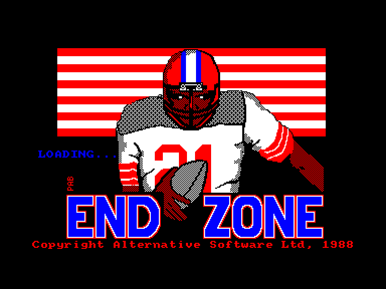 screenshot of the Amstrad CPC game Endzone by GameBase CPC
