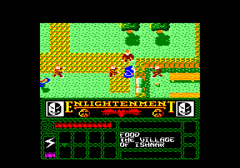screenshot of the Amstrad CPC game Enlightenment - Druid II by GameBase CPC