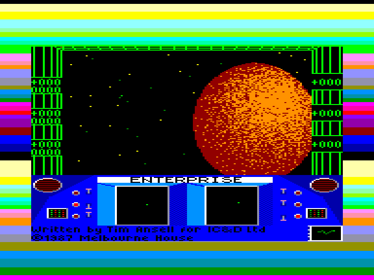 screenshot of the Amstrad CPC game Enterprise by GameBase CPC
