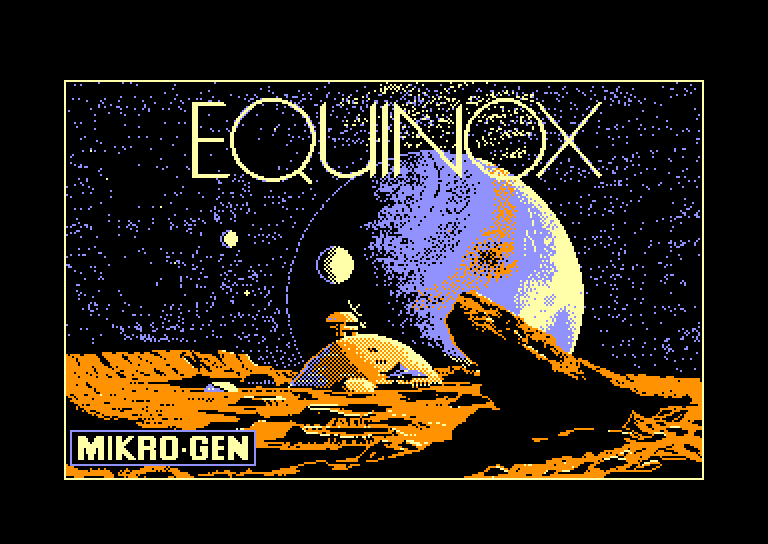 screenshot of the Amstrad CPC game Equinox by GameBase CPC