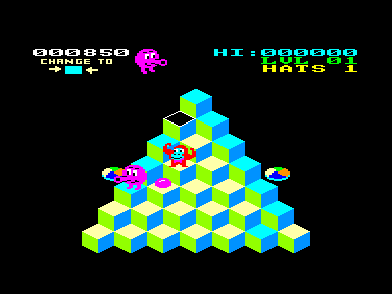 screenshot of the Amstrad CPC game Er*bert by GameBase CPC