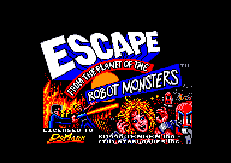 screenshot of the Amstrad CPC game Escape from the planet of the robot monsters by GameBase CPC
