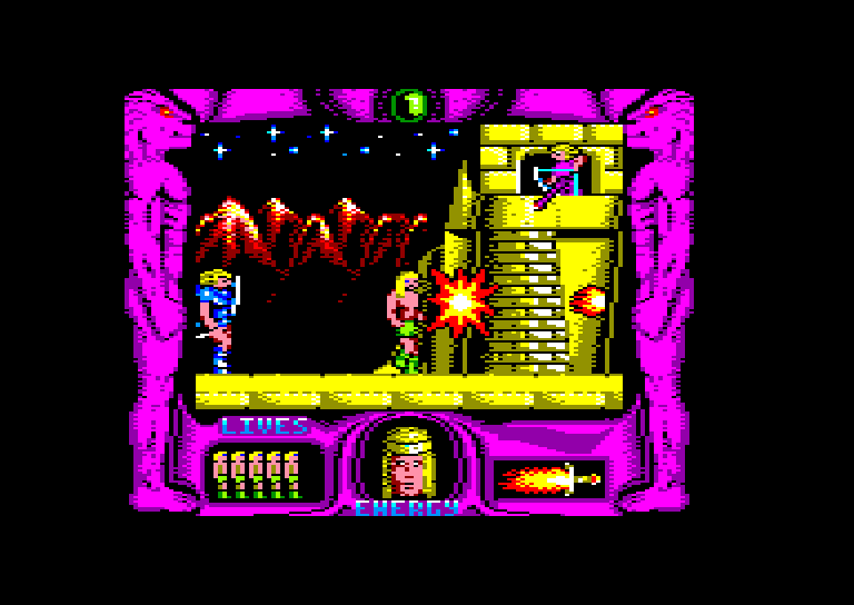 screenshot of the Amstrad CPC game Espada sagrada (la) by GameBase CPC