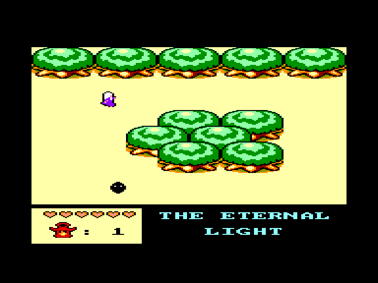 screenshot of the Amstrad CPC game The Eternal Light 2 by GameBase CPC