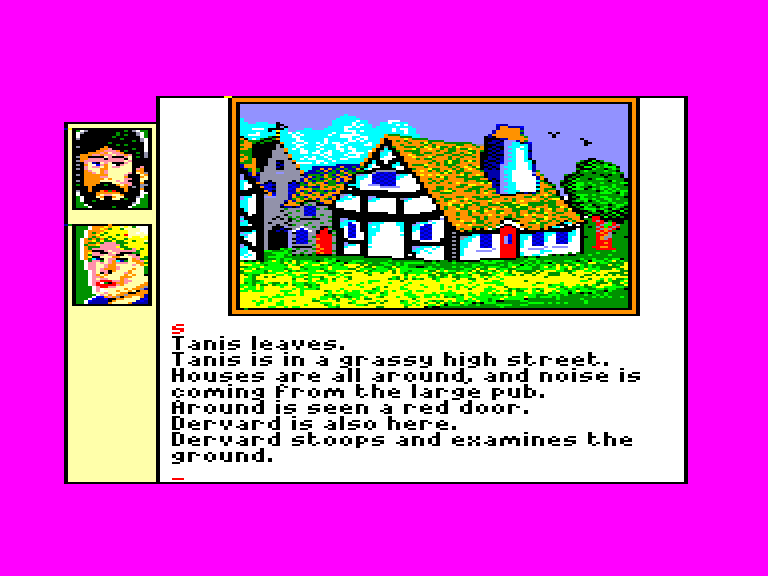 screenshot of the Amstrad CPC game Eve of shadows by GameBase CPC