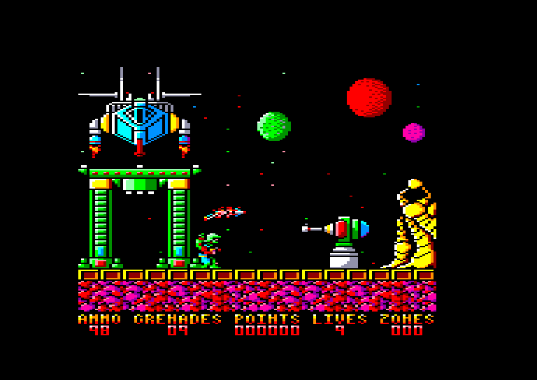 screenshot of the Amstrad CPC game Exolon by GameBase CPC