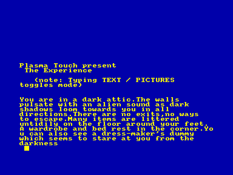 screenshot of the Amstrad CPC game Experience (the) by GameBase CPC