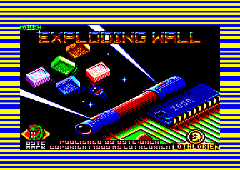 screenshot of the Amstrad CPC game Exploding Wall by GameBase CPC