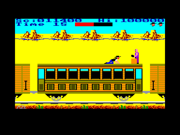screenshot of the Amstrad CPC game Express raider by GameBase CPC