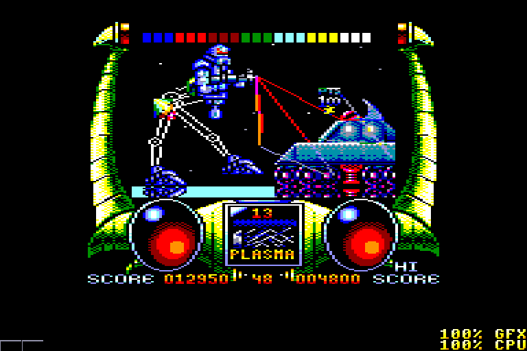 screenshot of the Amstrad CPC game Extreme by GameBase CPC