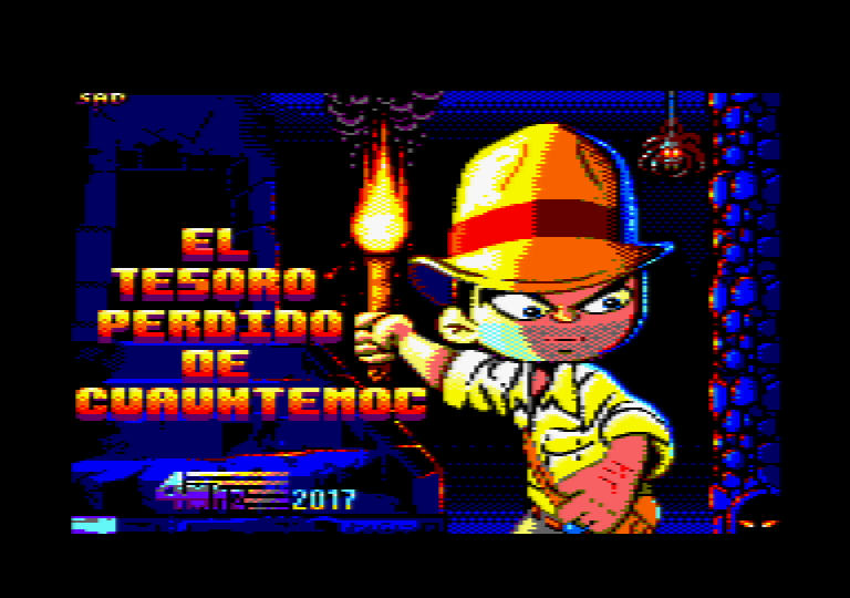 loading screen of the Amstrad CPC game El Tesoro perdido de Cuauhtemoc