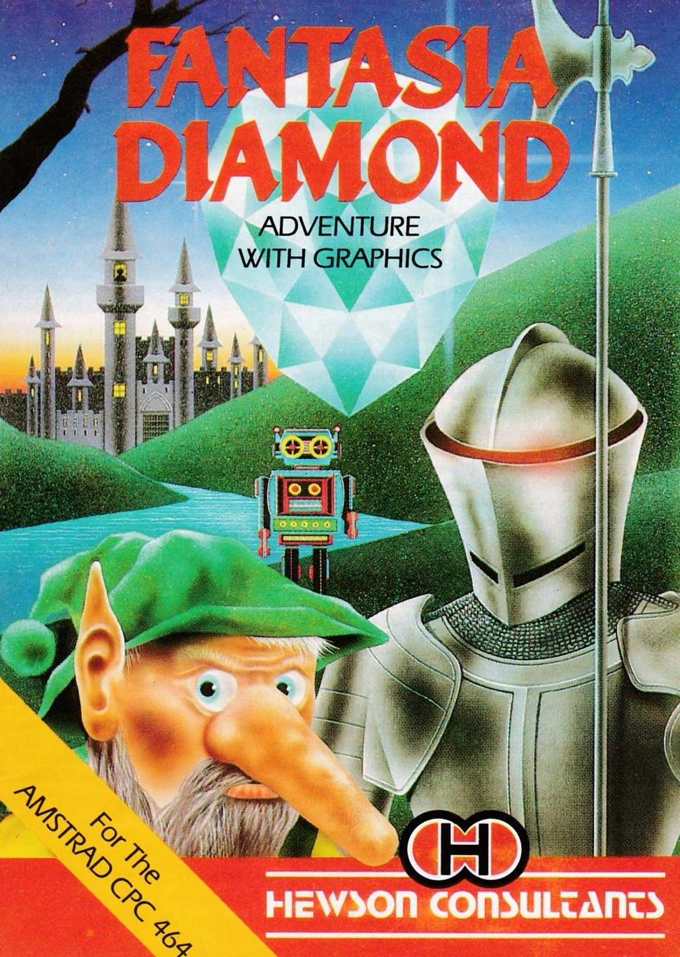 screenshot of the Amstrad CPC game Fantasia diamond by GameBase CPC
