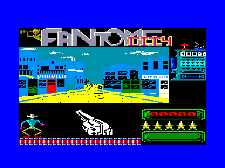 screenshot of the Amstrad CPC game Fantome city by GameBase CPC