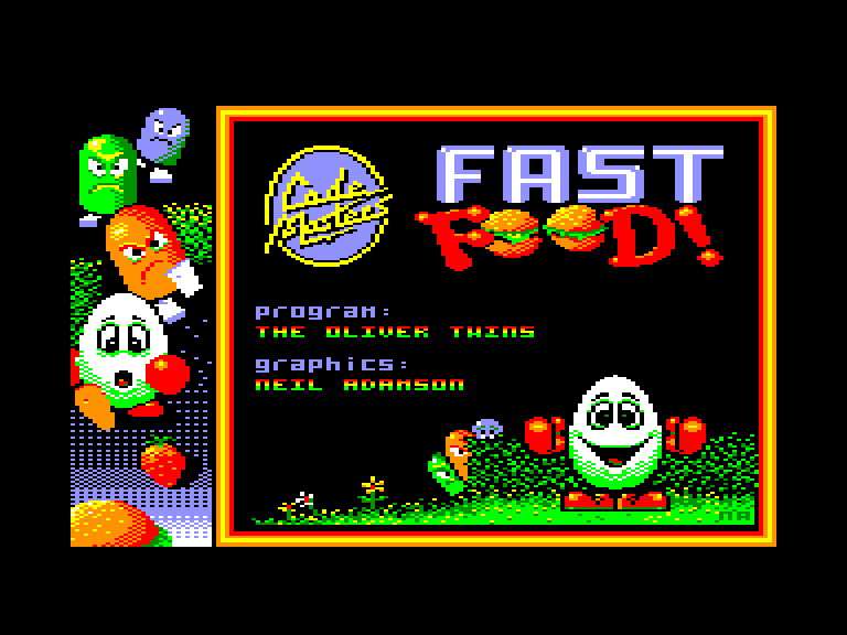 screenshot of the Amstrad CPC game Fast Food Dizzy by GameBase CPC