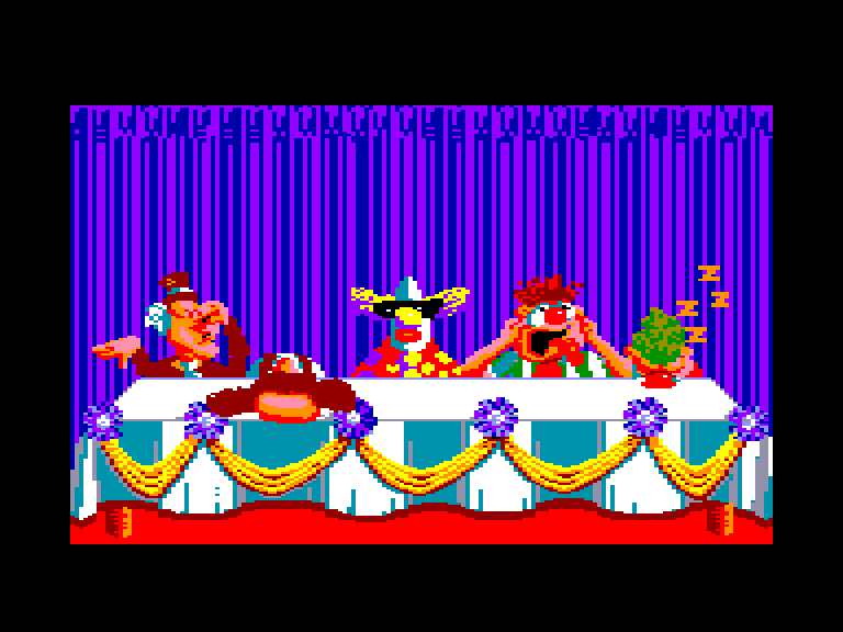 screenshot of the Amstrad CPC game Fiendish Freddy's Big Top o' Fun by GameBase CPC
